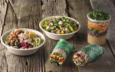 Freshii bowls, wraps, salads, and soup.