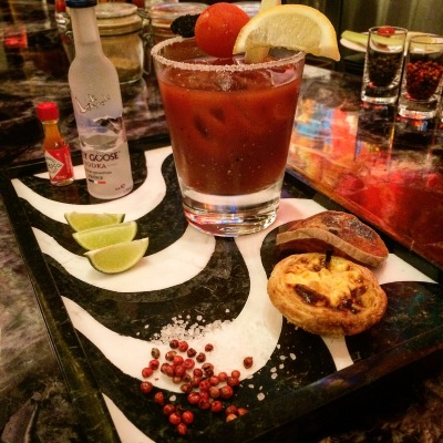 The Maria do Leste Bloody Mary at the St. Regis Macao. Photo: Author.