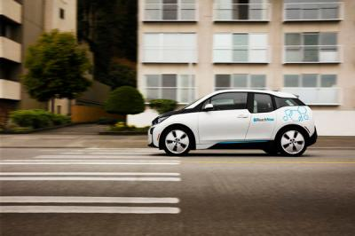 One of ReachNow's vehicles is the electric BMW i3. Photo courtesy of ReachNow.